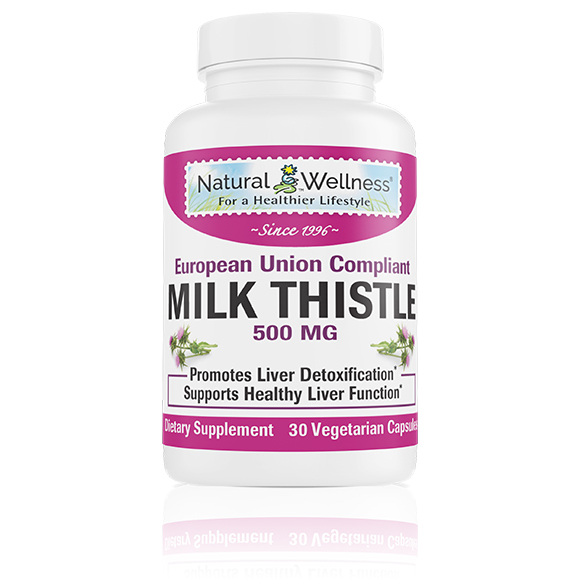 Milk Thistle 500 MG Bottle