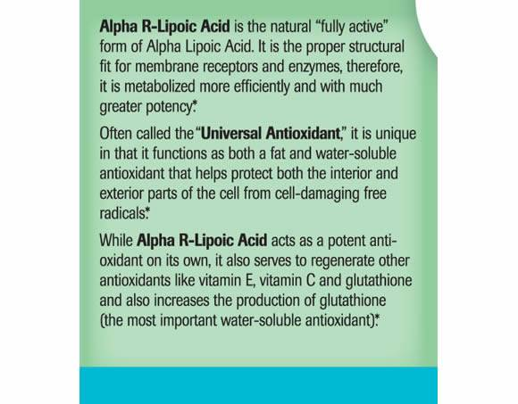 Liver Antioxidant Alpha R Lipoic Acid Natural Wellness