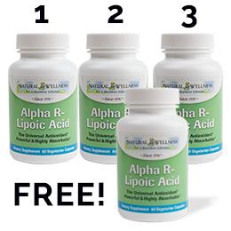 Alpha R-Lipoic Acid (ALA) Buy 3 Get 1 Free