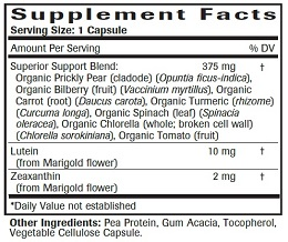 Advanced Eye & Vision Support Formula - Supplement Facts