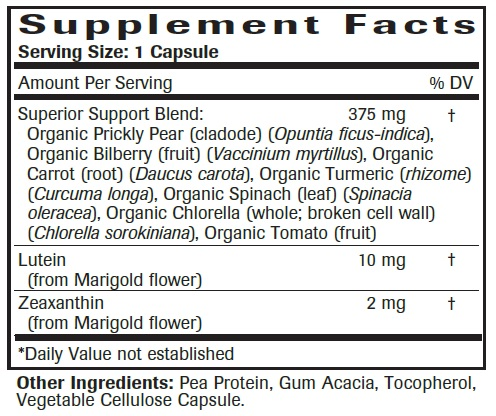 Advanced Eye & Vision Support Formula Ingredients