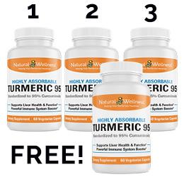 Turmeric 95 Buy 3 Get 1 Free
