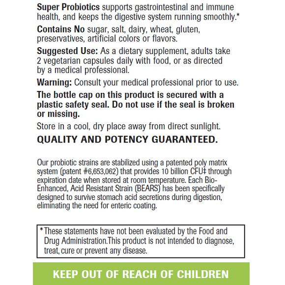 Super Probiotics - Label Large