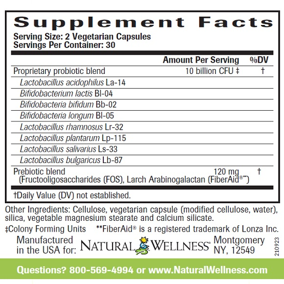 Super Probiotics - Supplement Facts Large