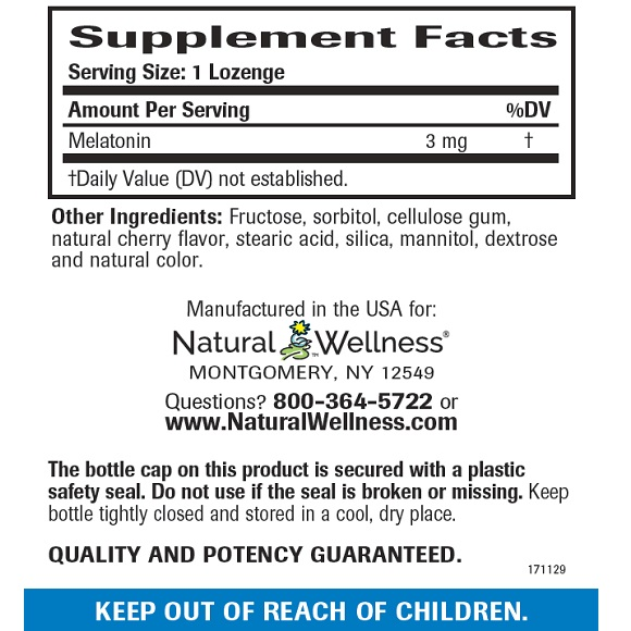 Fast Asleep - Supplement Facts Large