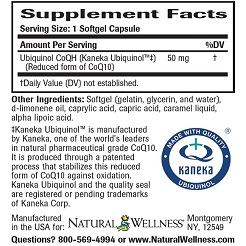 Ubiquinol CoQ10 - Supplement Facts
