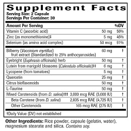 Vision Protector - Supplement Facts