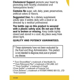 Cholesterol Support - Label