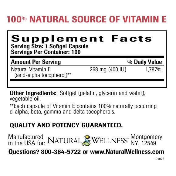 Vitamin E Supplement Vitamin E Natural Wellness