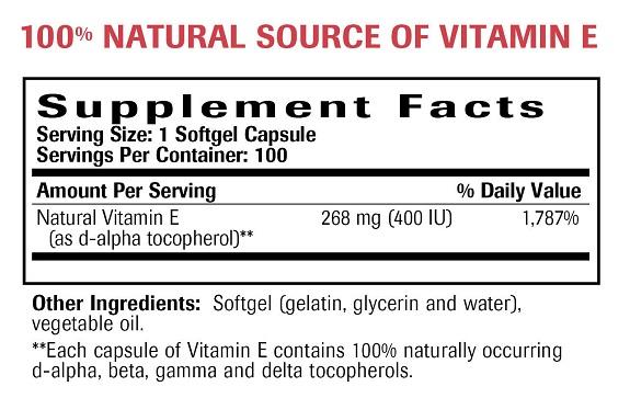 Natural Vitamin E Ingredients