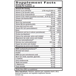 Hair, Skin & Nails - Supplement Facts