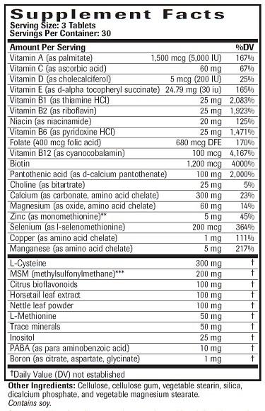 Hair, Skin & Nails Ingredients