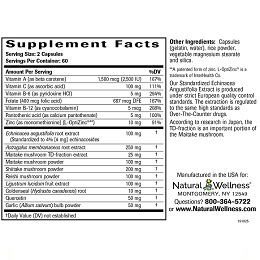 Immune System Support - Supplement Facts