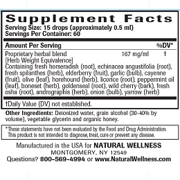 Sinus Clear - Supplement Facts