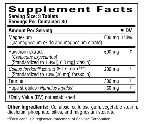 Blood Pressure Complex Ingredients