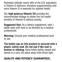 Vitamin D3 - Label