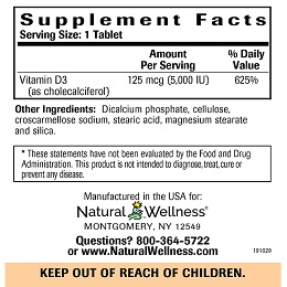 Vitamin D3 - Supplement Facts
