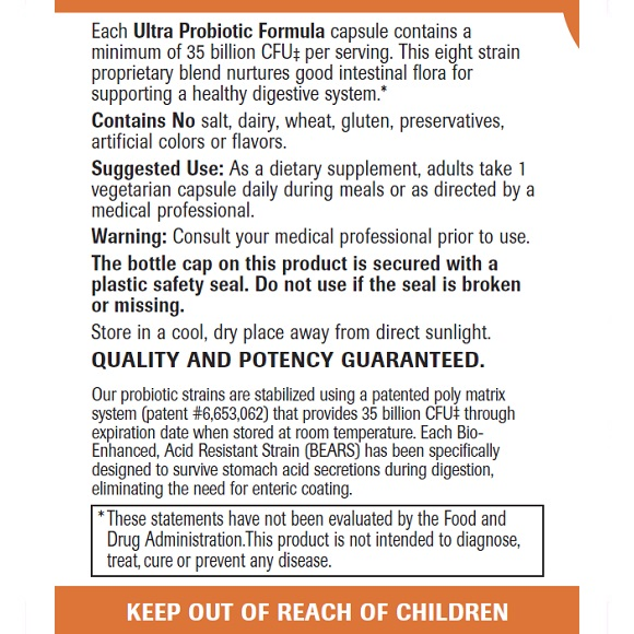 Ultra Probiotic Formula - Label Large