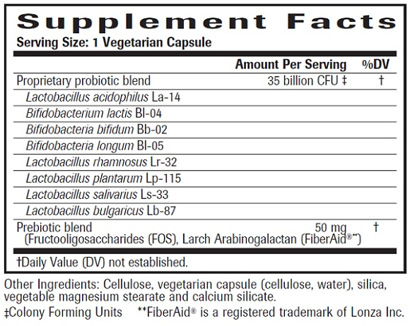 Ultra Probiotic Formula Ingredients