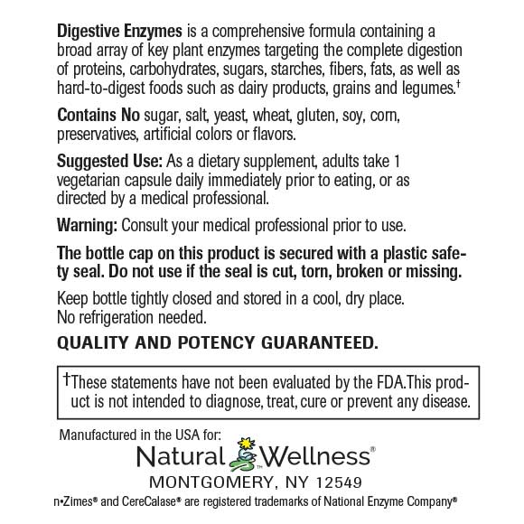 Digestive Enzymes - Label