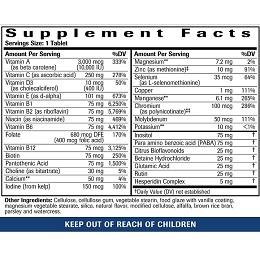 Clinical Multi-Vitamin - Label