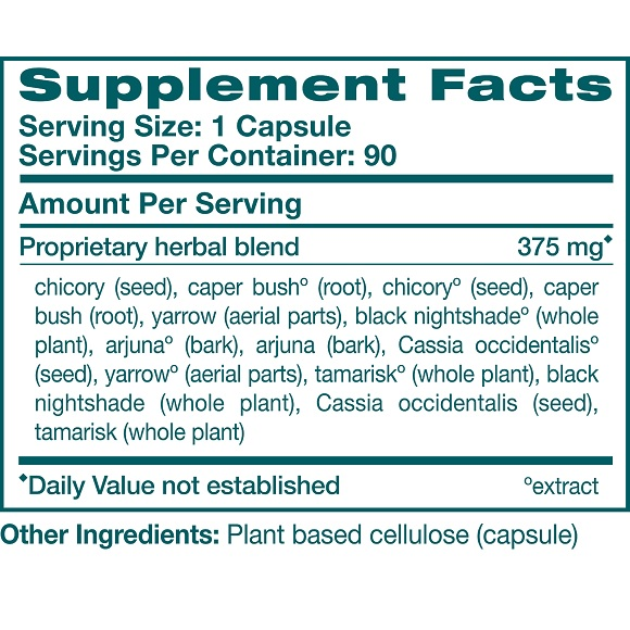 LiverCare -Supplement Facts Large
