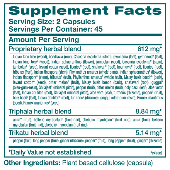 GlucoCare - Supplement Facts Large