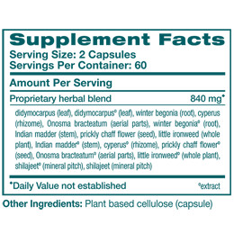 UriCare - Supplement Facts