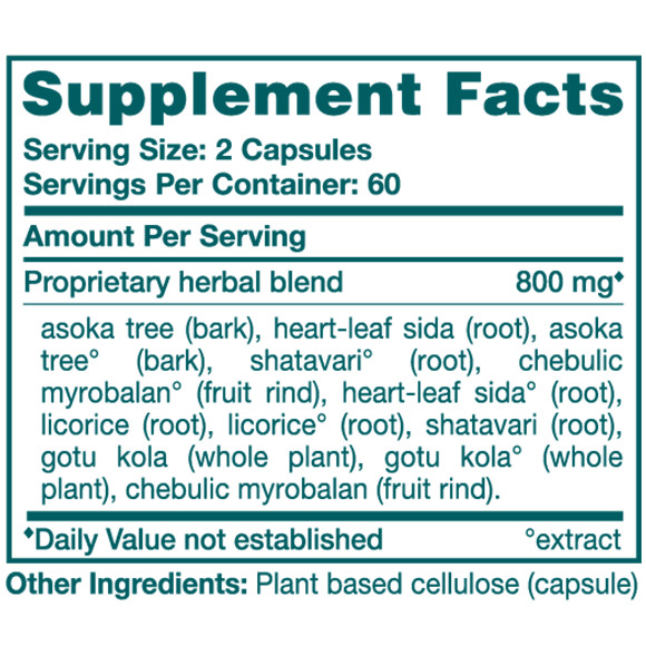 MenoCare - Supplement Facts Large
