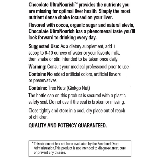Chocolate UltraNourish - Label Large