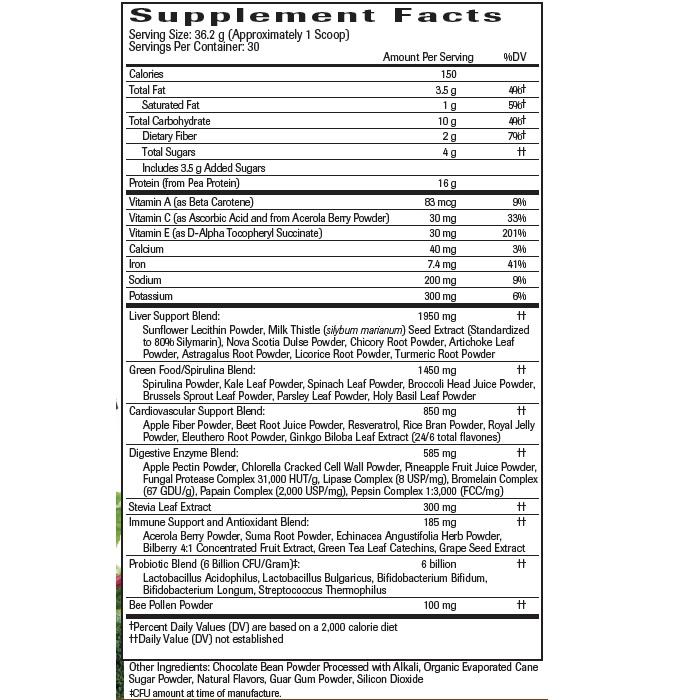 Chocolate UltraNourish - Supplement Facts