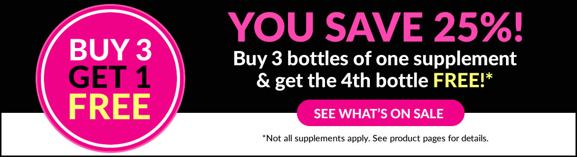 Buy 3 Get 1 FREE on Select Supplements!