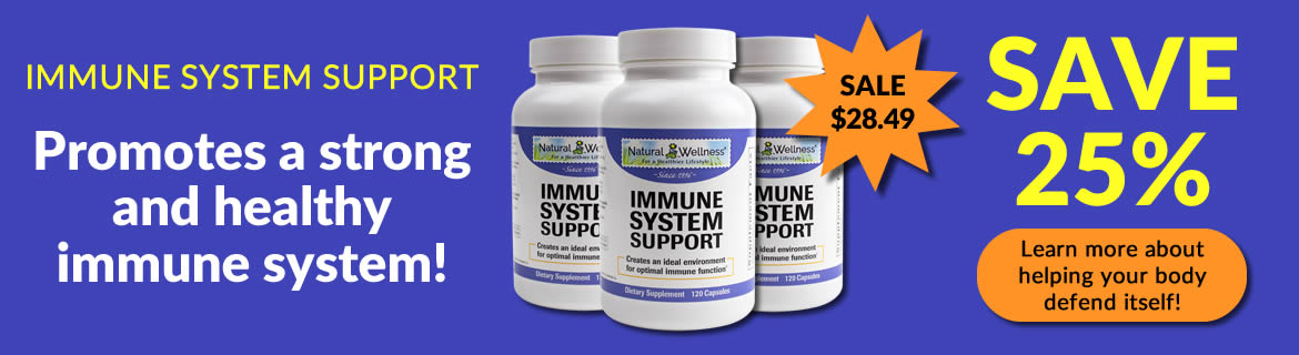 Save 25% on Immune System Support