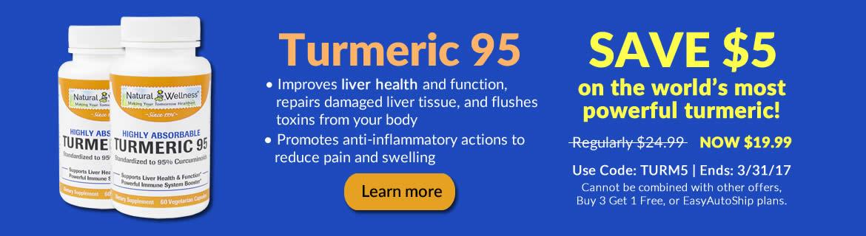 Save $5 on Turmeric 95