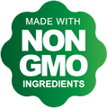 Made with non-gmo ingredients