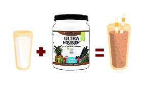 Just 2 ingredients for healthy Chocolate UltraNourish Shake